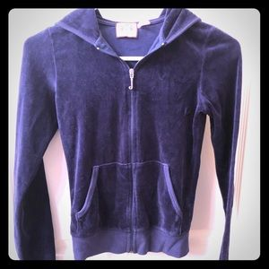 XS Juicy Couture navy blue velour hoodie